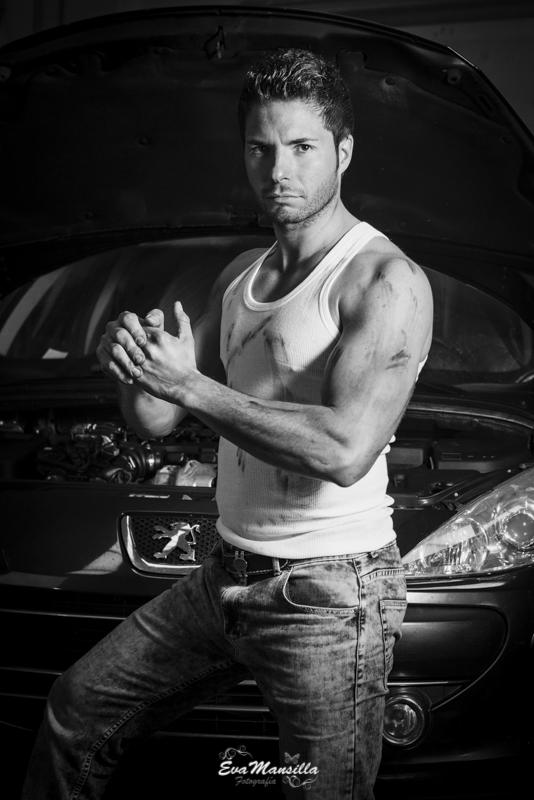 mecánico hombre sexy work camiseta blanca