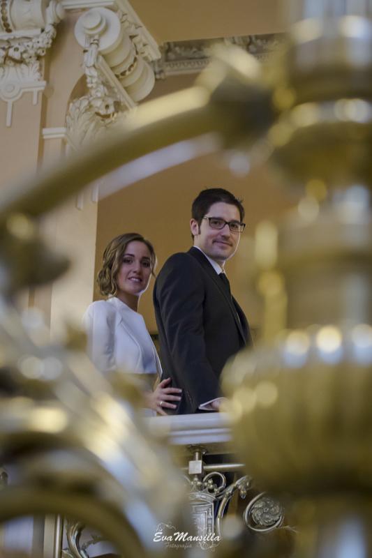 retrato pareja novios recién casados