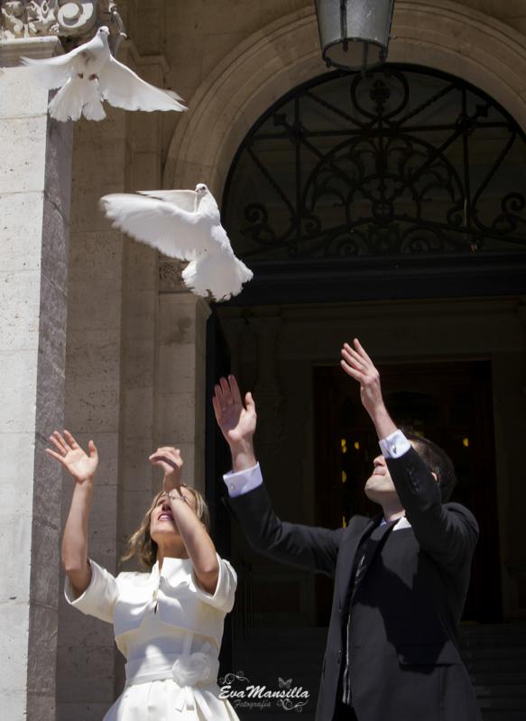suelta de palomas en boda