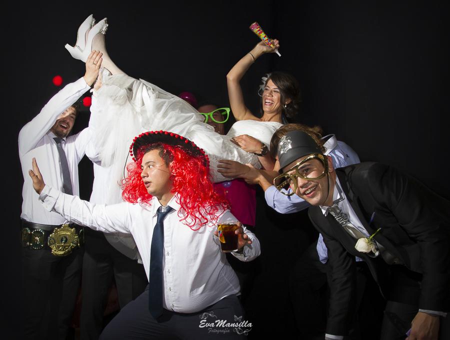 photocall boda Las Lomas Eva Mansilla
