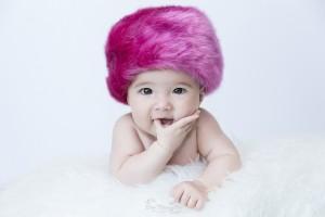 gorrito ruso fucsia bebé niña 5 meses