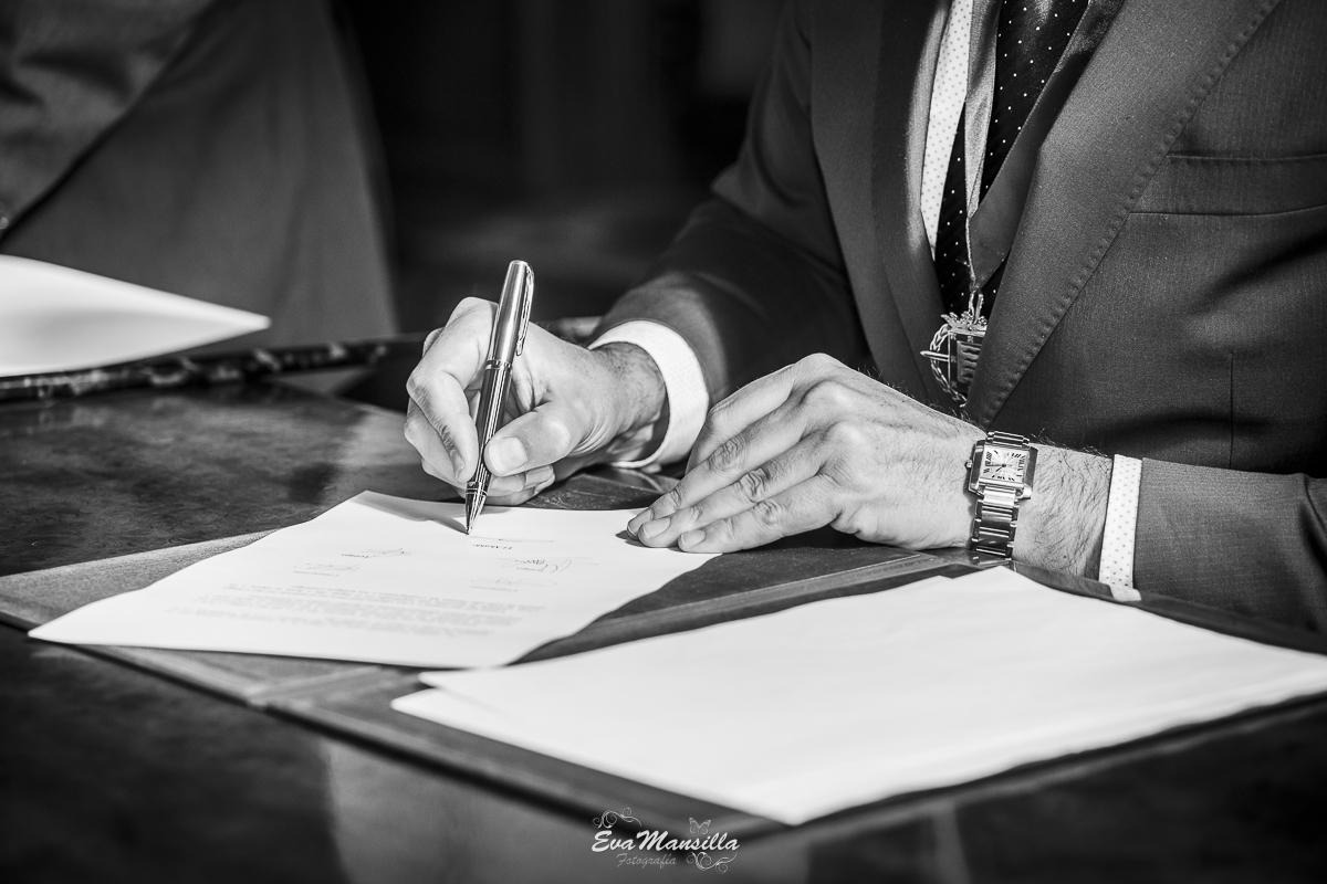 firmas recién casados