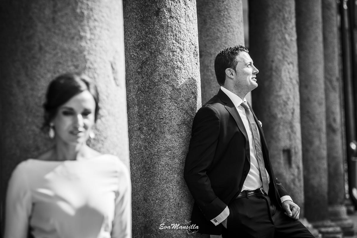 foto sesión novios recién casados