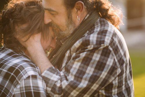 foto romántica de pareja