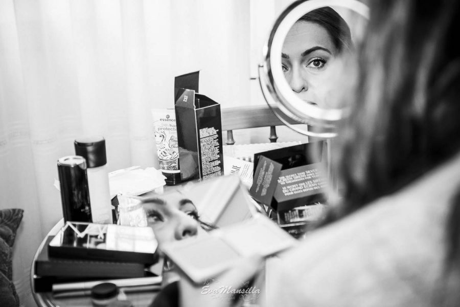 preparativos maquillaje novia
