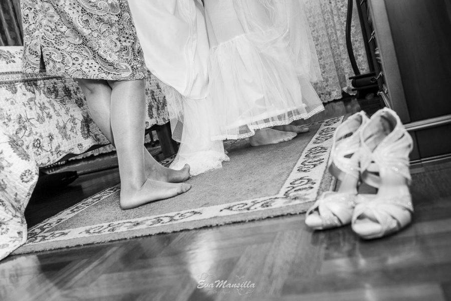 preparativos zapatos novia