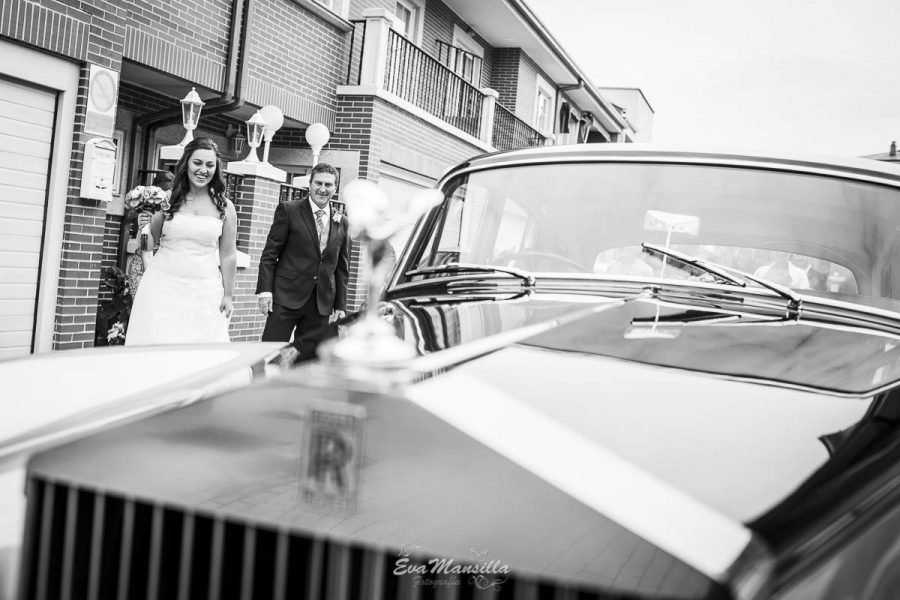 coche lujo boda rolls royce oro y negro