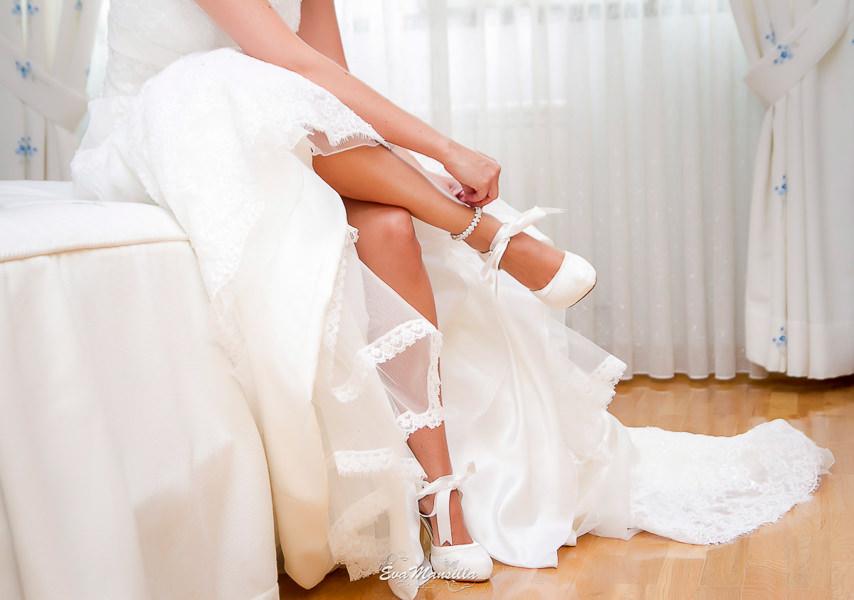 preparativos zapatos novia pulsera tobillera