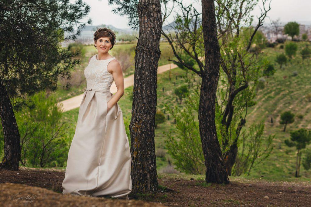 vestido novia Rosa Clará cerro contiendas