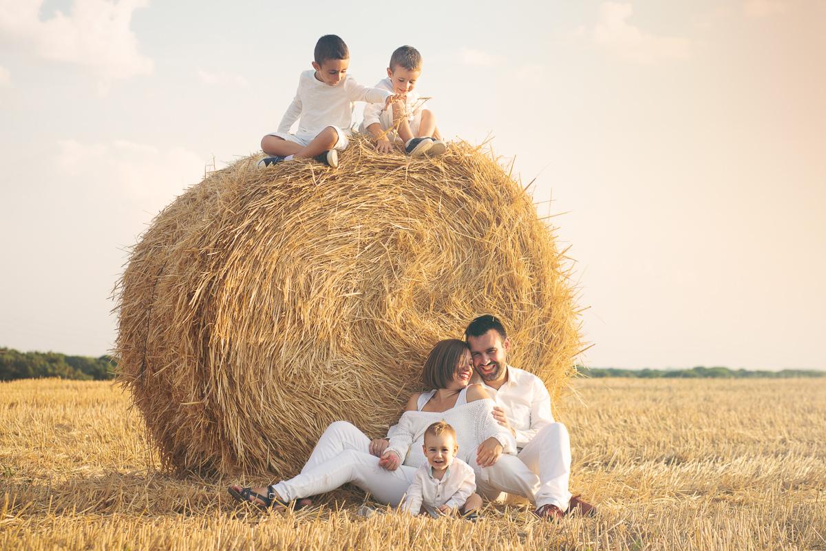 foto familia numerosa campo