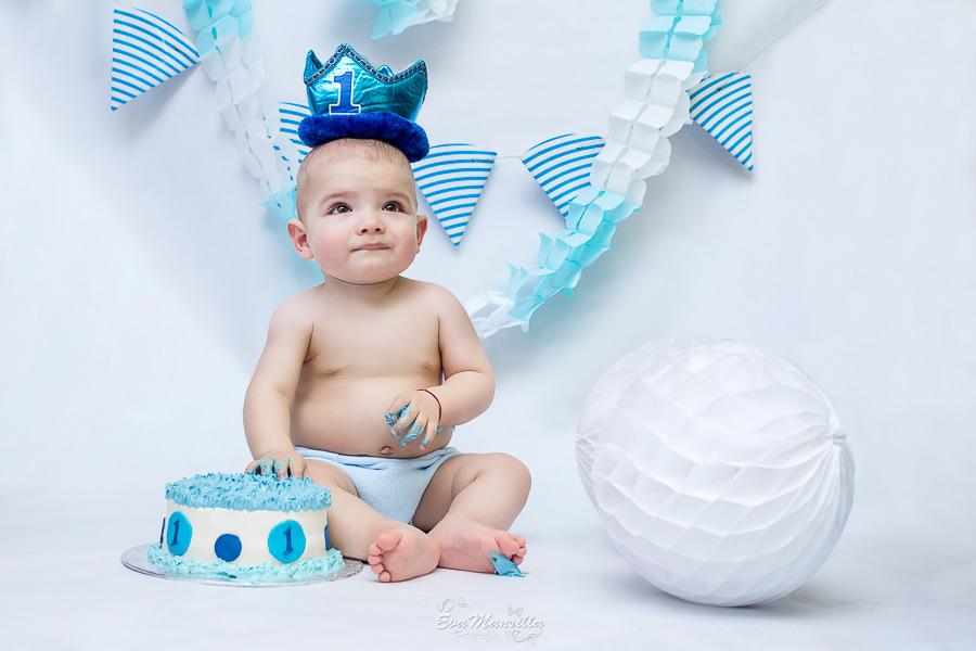corona pastel bebé primer cumpleaños