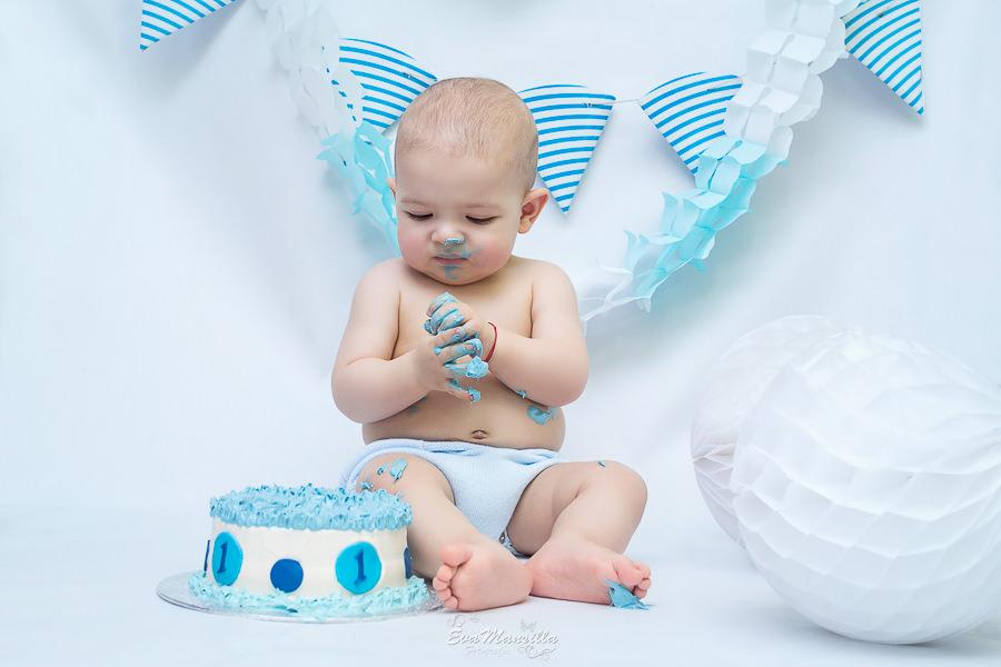 bebé pastel banderines azules